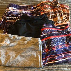 4 pair of leggings, 1 Capri